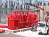Transformer mounting at substation