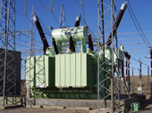 150 MVA, 500 kV three phase three-winding autotransformer, Chocon s/s, Argentina